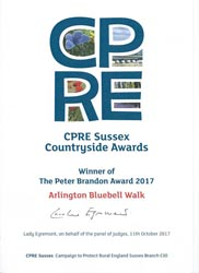 CRPE Sussex Countryside Awards Winner of The Peter Brandon Award 2017